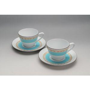 Noritake(ノリタケ) ハミングブルー 碗皿ペア