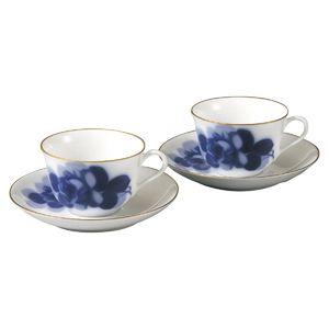 大倉陶園 ブルーローズ 碗皿ペア